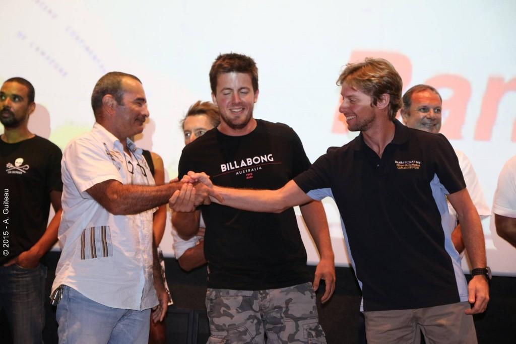 Soirée de lancement de l'édition 2017 de Rames Guyane - 25 juin. (Nicolas Maubert à droite)