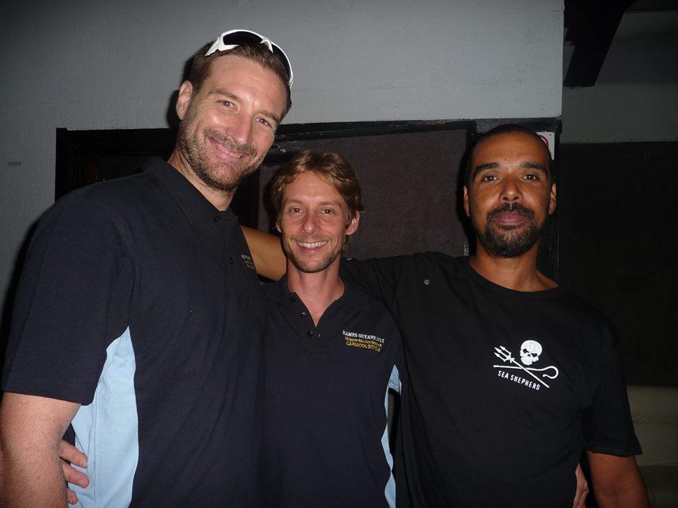 3 générations de skippers du Cariacou Boto III – avec Julien Besson, Nicolas Maubert et Harry Culas.